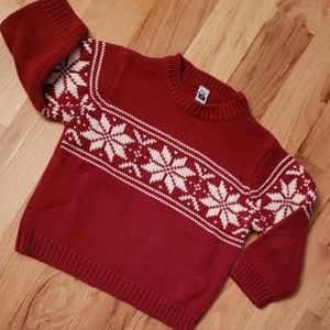 Baby GAP Red Norwegian Ski Sweater